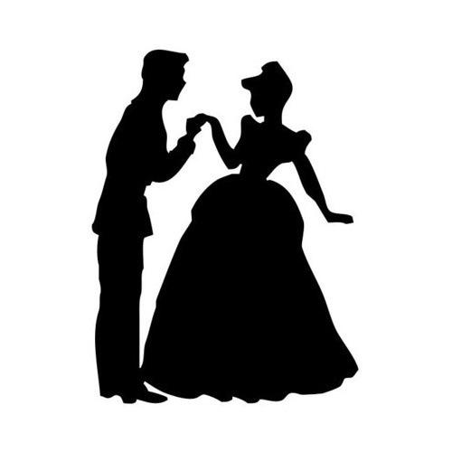 prince u0026 cinderella silhouette clipart - Cinderella Silhouette PNG HD