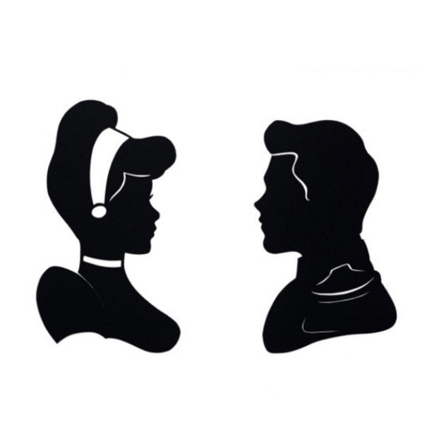 Princess Prince Princesstattoo Silhouettes Disney - Cinderella Silhouette PNG HD