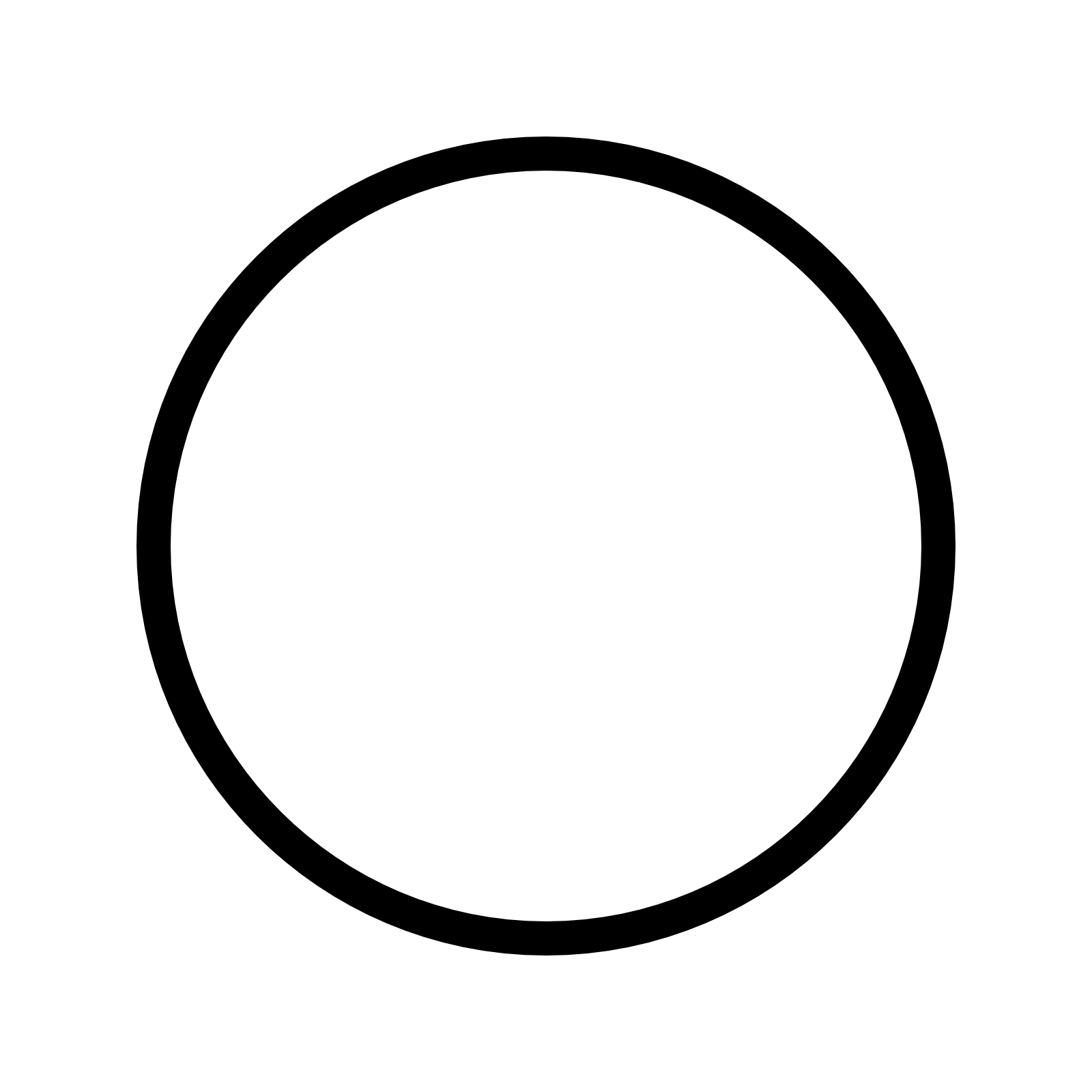 Circled Thin Icon