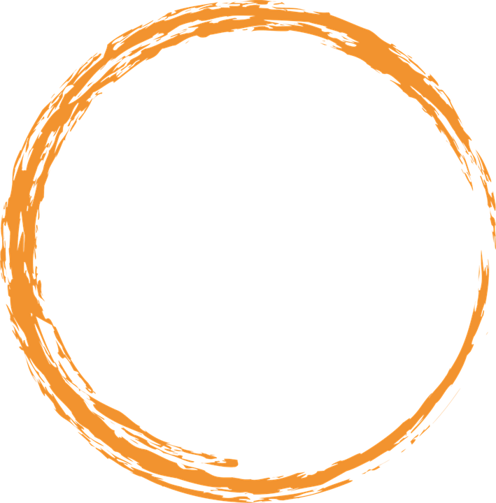 Orange, Round, Circle, Paint, Brush, Design, Element - Circle PNG