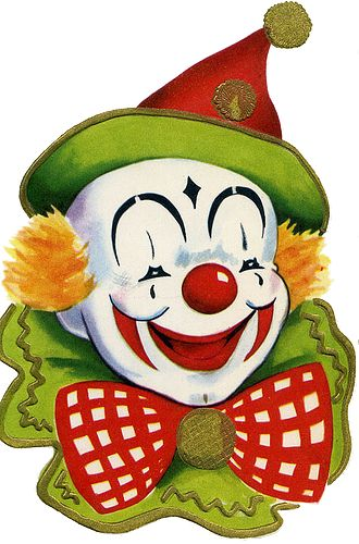 CHRISTMAS ORNAMENT *CLOWN * - Circus Joker Face PNG