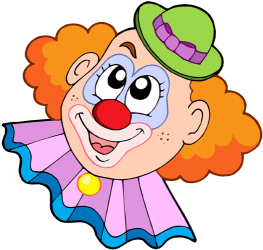 Clown face - Circus Joker Face PNG
