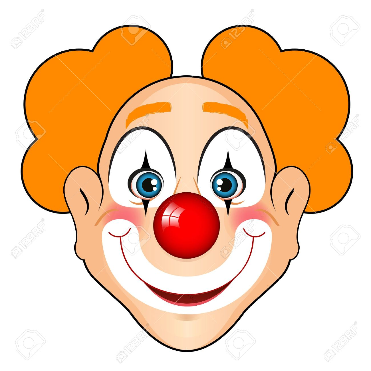 clown face: Vector illustration of smiling clown - Circus Joker Face PNG