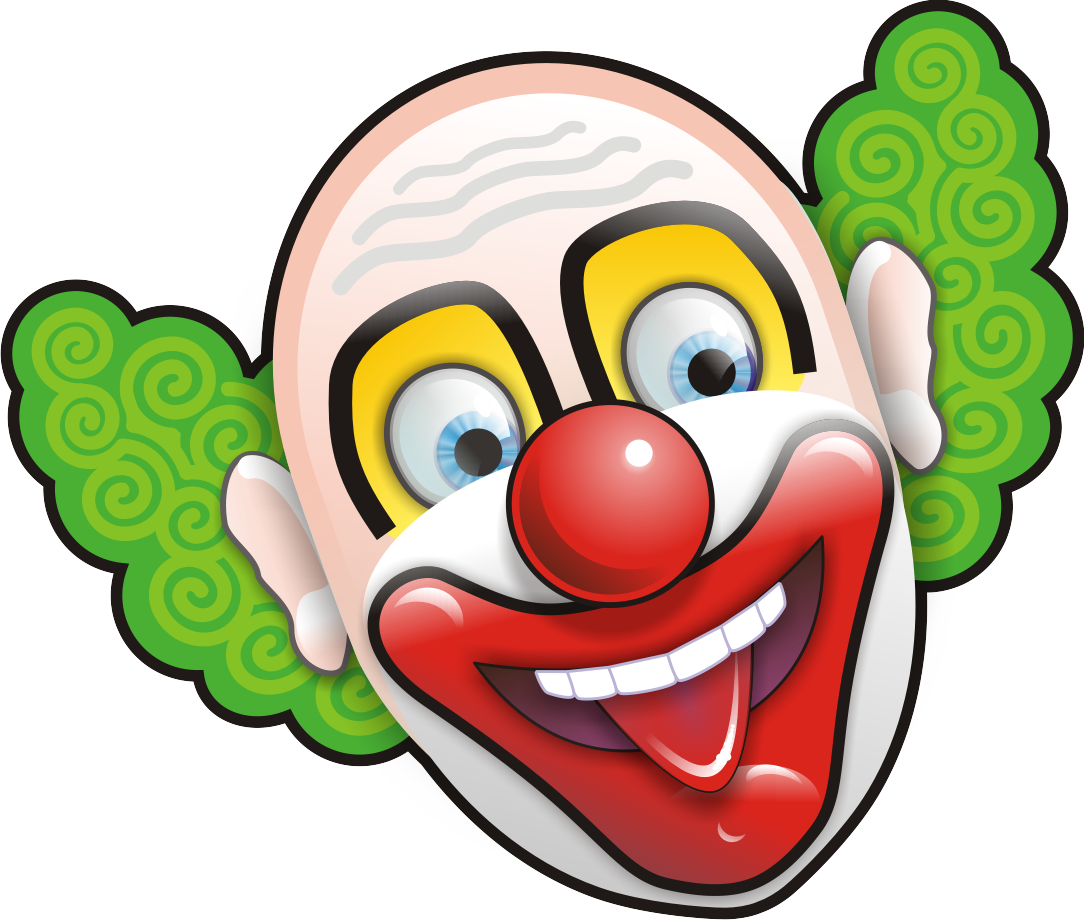 Clowns - Circus Joker Face PNG