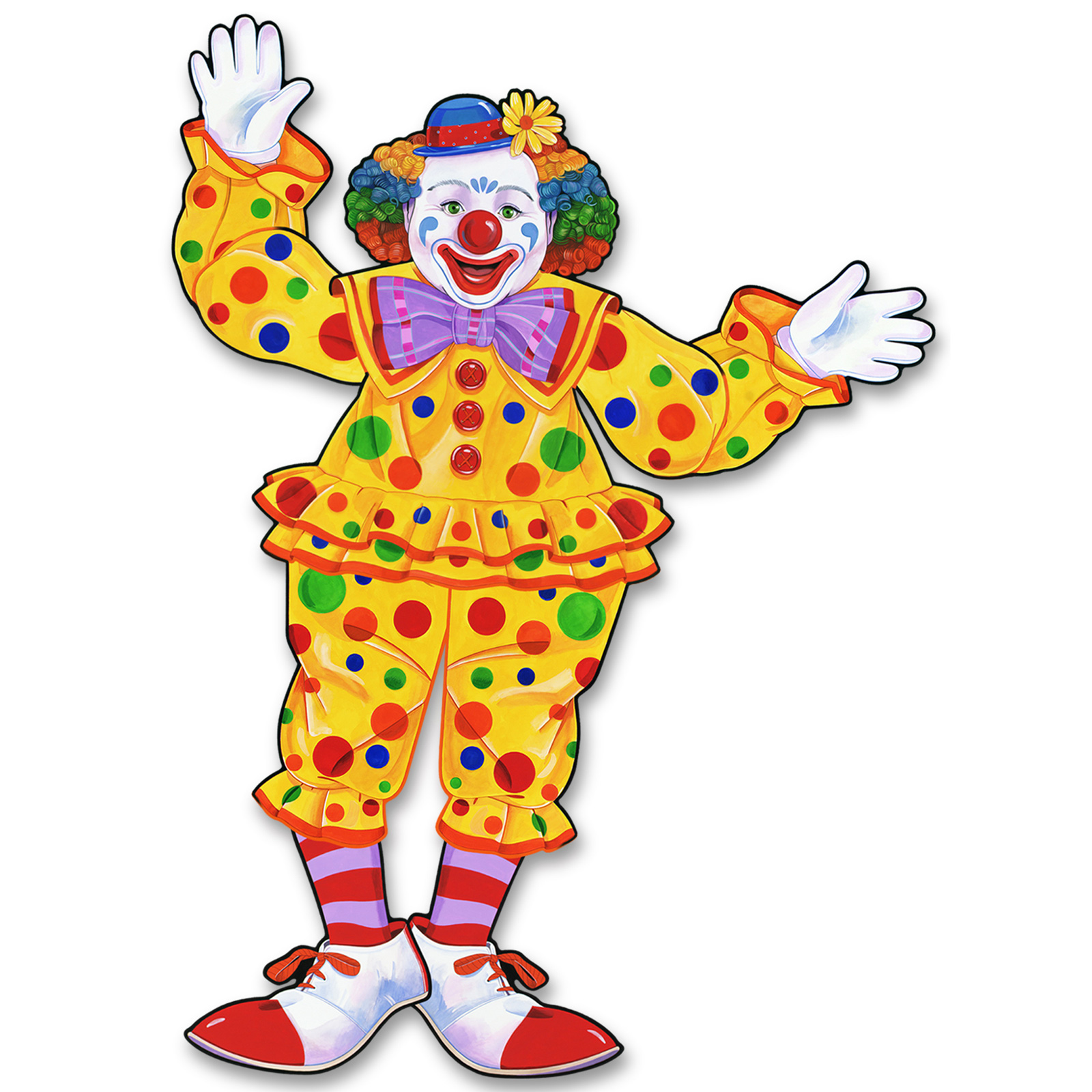 Jointed Circus Clown Cutout | ThePartyWorks - Circus Joker Face PNG
