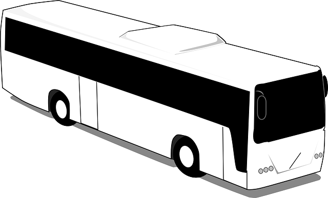 City Bus PNG Black And White - 170182