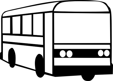 City Bus PNG Black And White - 170185
