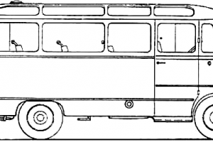 City Bus PNG Black And White - 170191