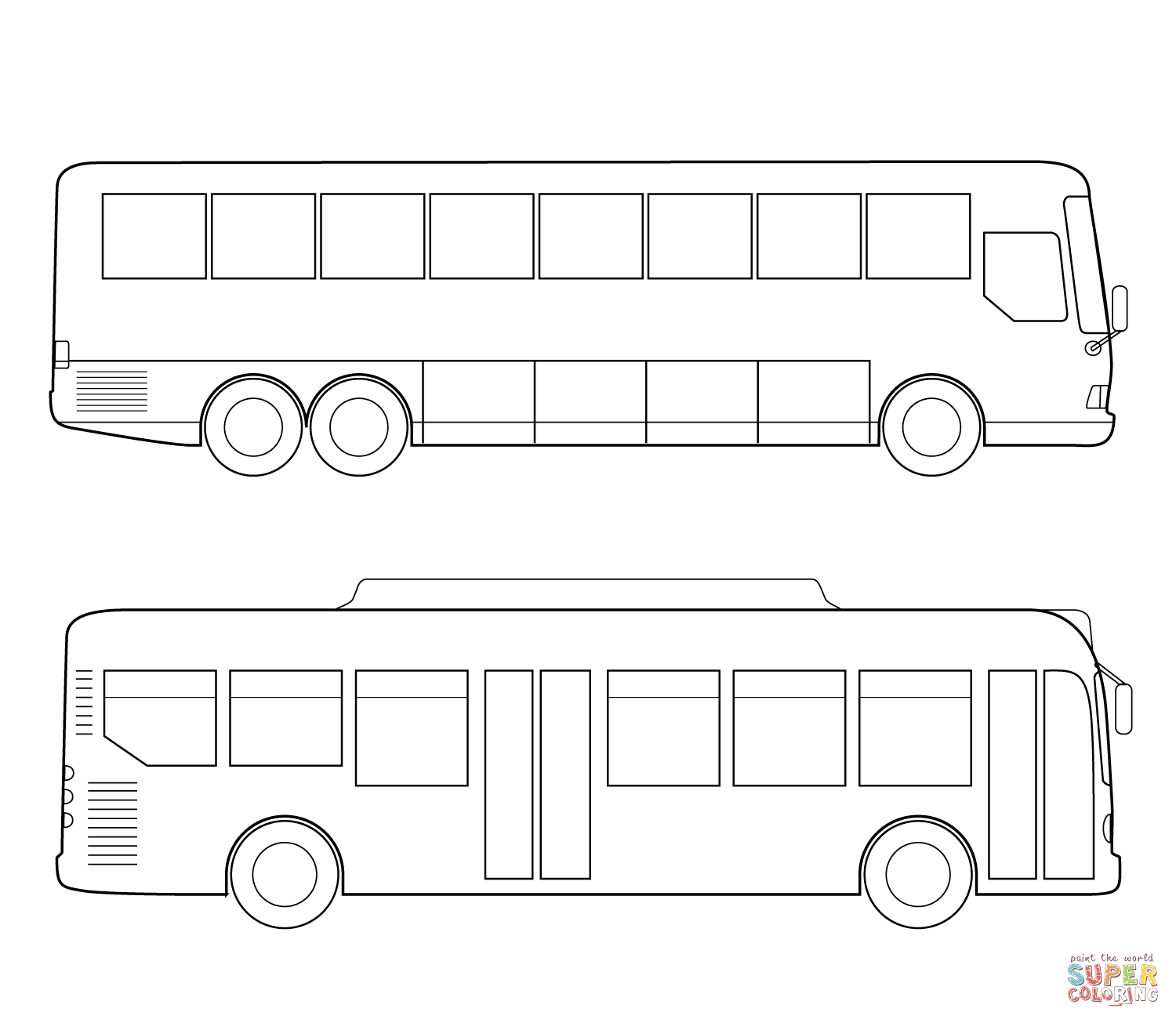 City Bus PNG Black And White - 170193