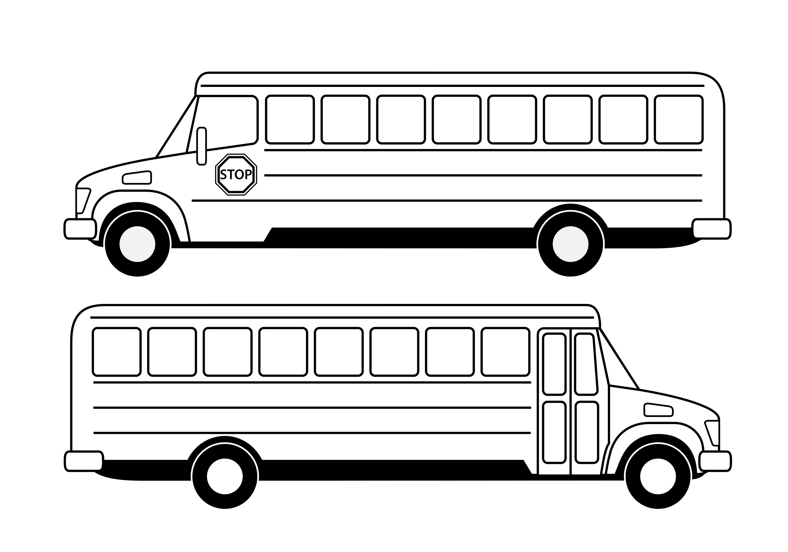 City Bus PNG Black And White - 170192