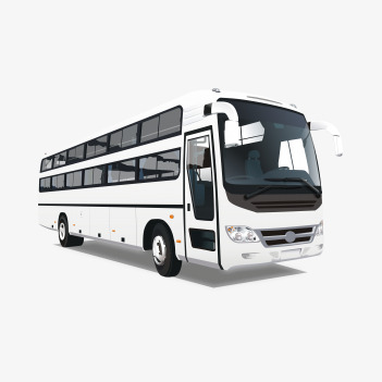 City Bus PNG Black And White - 170190