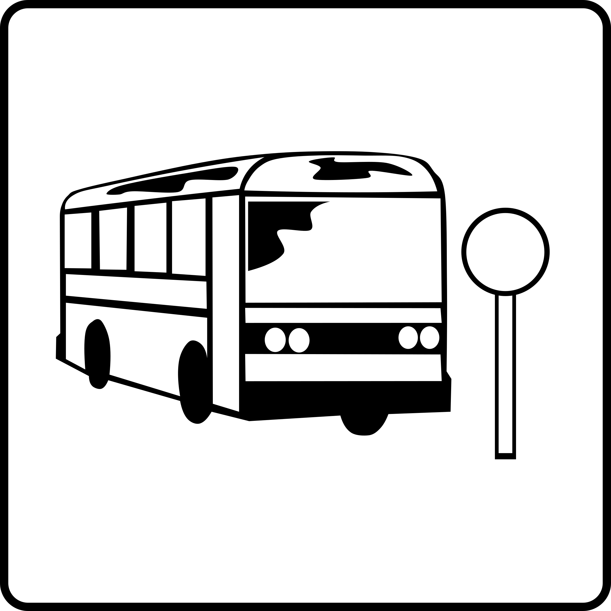 City Bus PNG Black And White - 170196