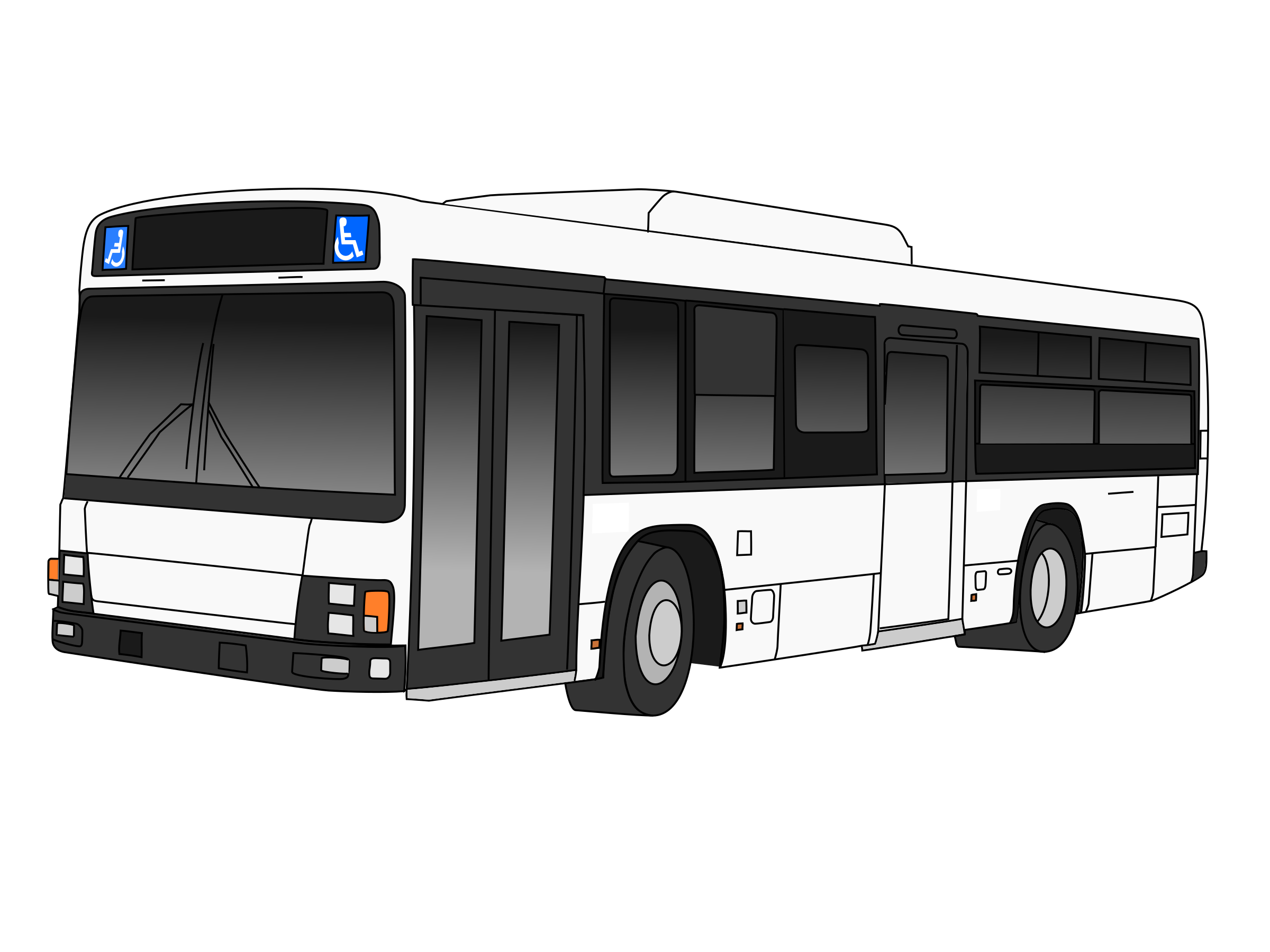 City Bus PNG Black And White - 170187