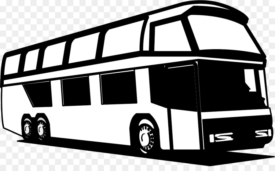 City Bus PNG Black And White - 170194