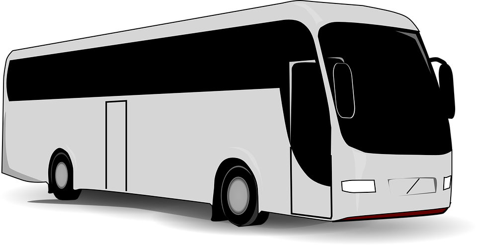 City Bus PNG Black And White - 170183