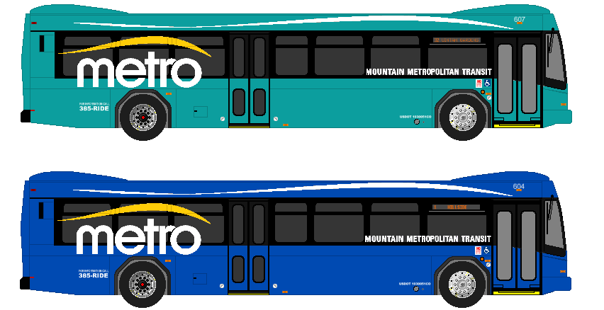 A pair of Gillig BRT buses by Sean9118 PlusPng.com  - City Bus Side View PNG
