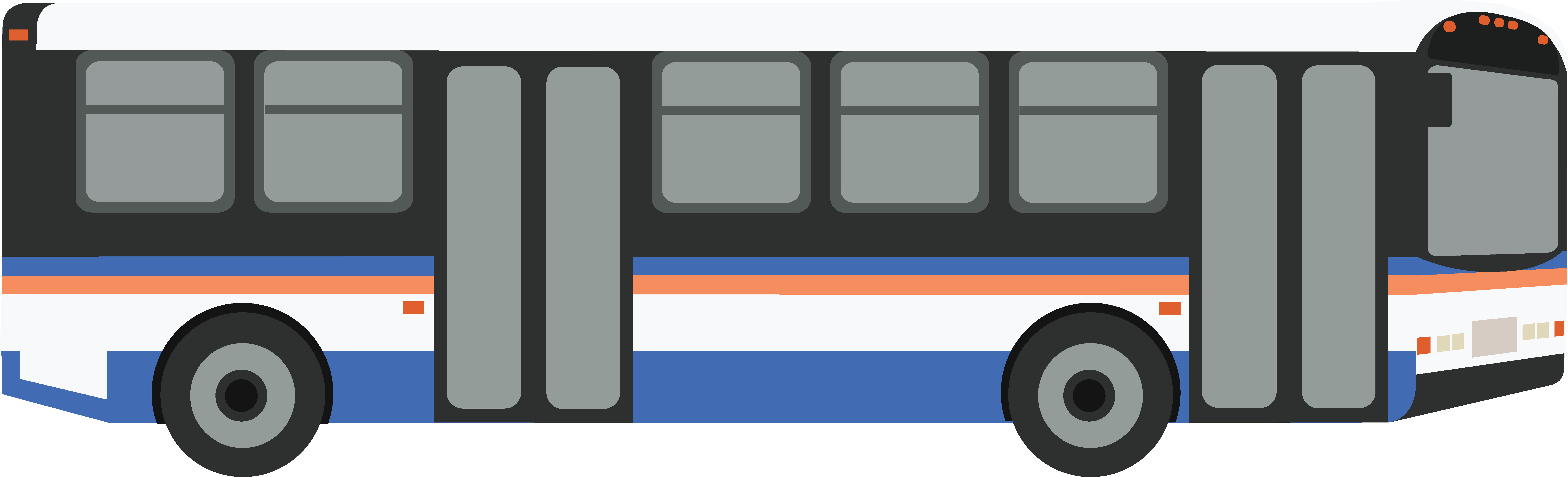 City - City Bus Side View PNG