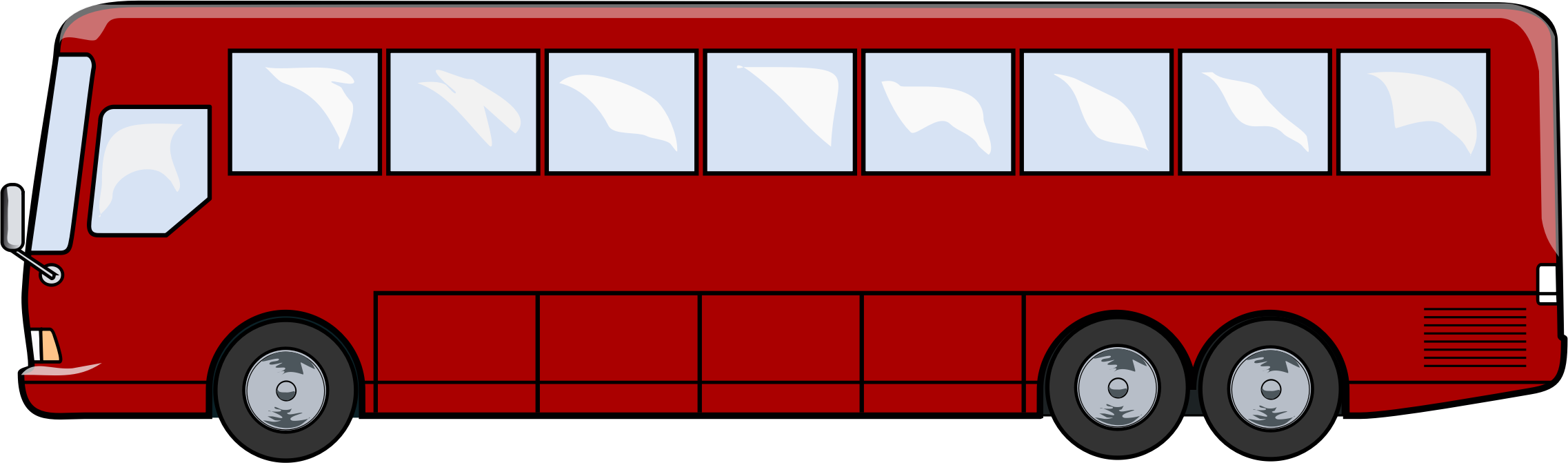 City bus clipart png - City Bus Side View PNG