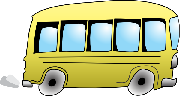 City Bus Side View Clipart - City Bus Side View PNG