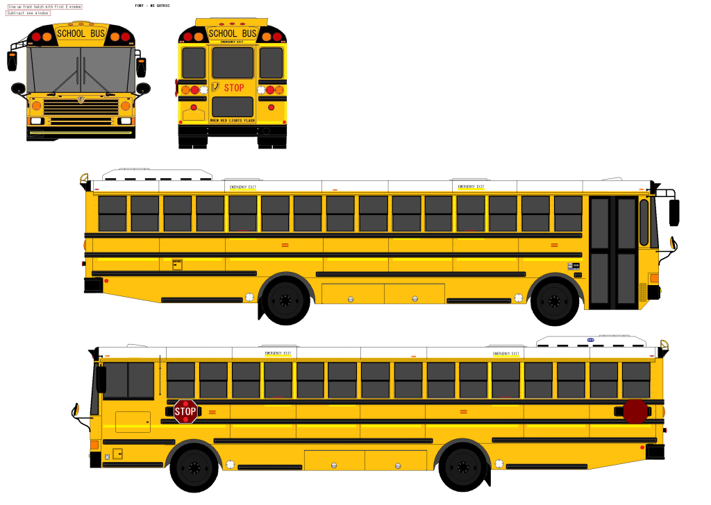 School Bus Side View Flat Front - City Bus Side View PNG