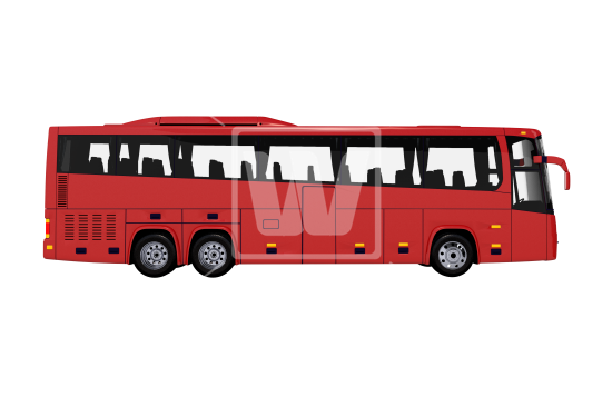 Tour Bus Side View PNG - City Bus Side View PNG