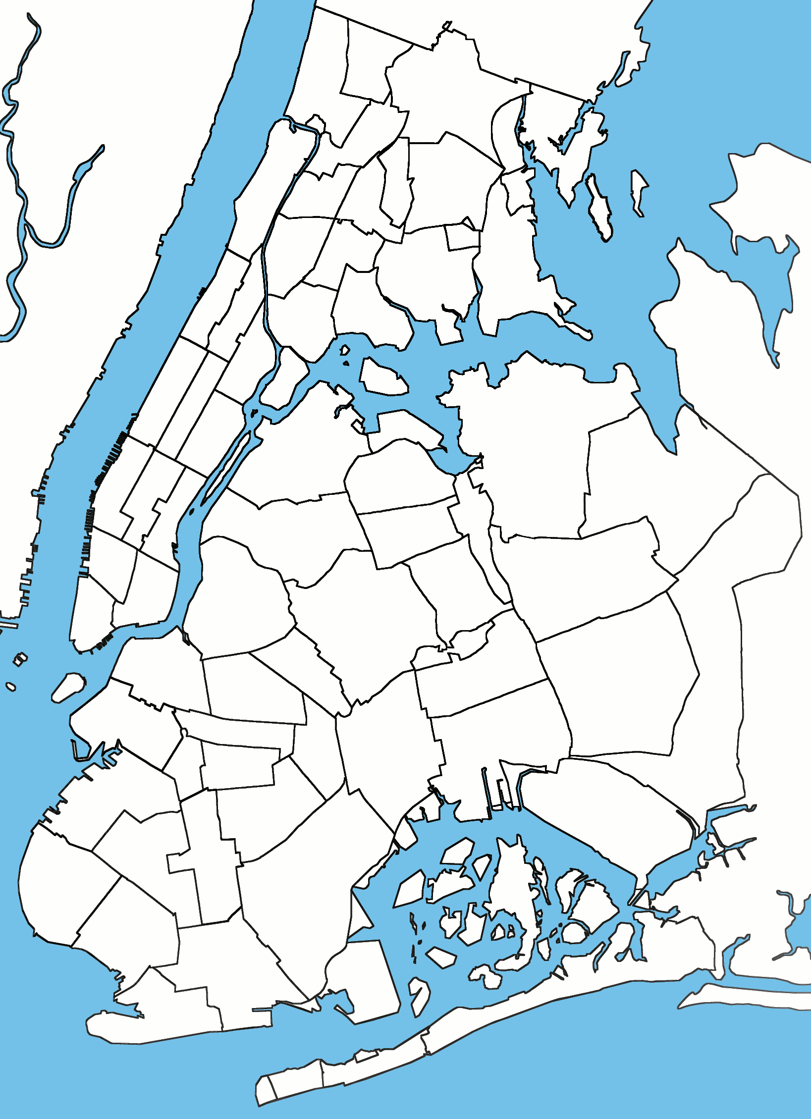 File:New-York-City-neighborhoods-blank-linewidth.png - City Neighborhood PNG