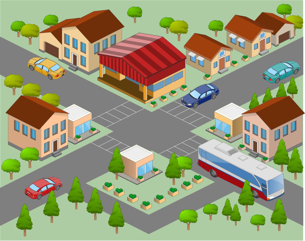 Neighborhood Map Clipart Neighborhood 3d Directional - City Neighborhood PNG