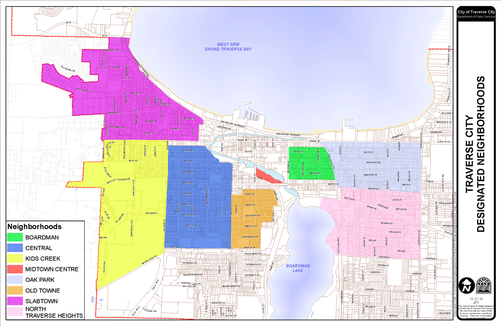 Traverse City Designated Neighborhoods - City Neighborhood PNG