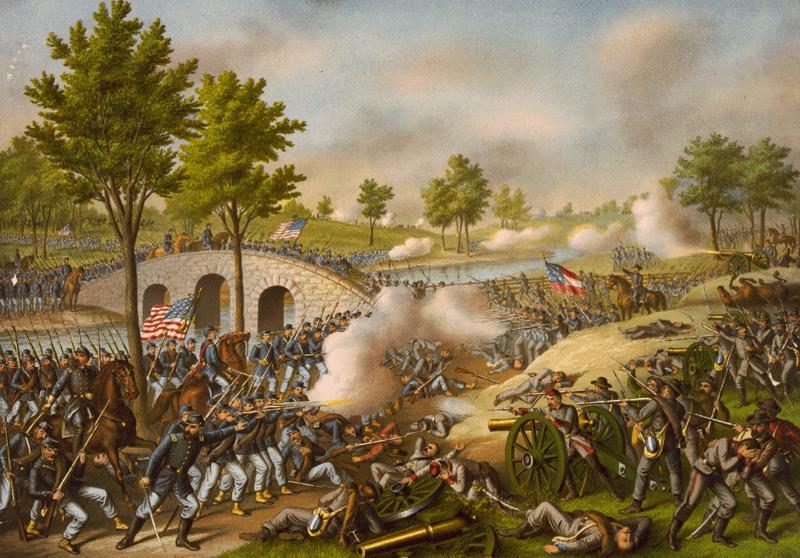 Battle of Antietam - Civil War Battle PNG
