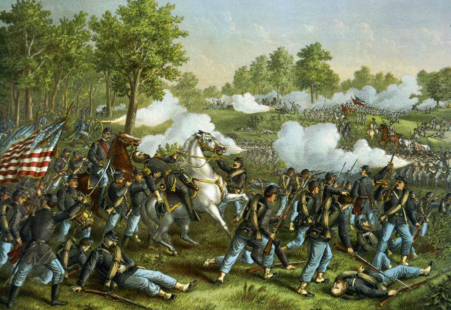 File:Battle of Wilsons Creek.png - Civil War Battle PNG