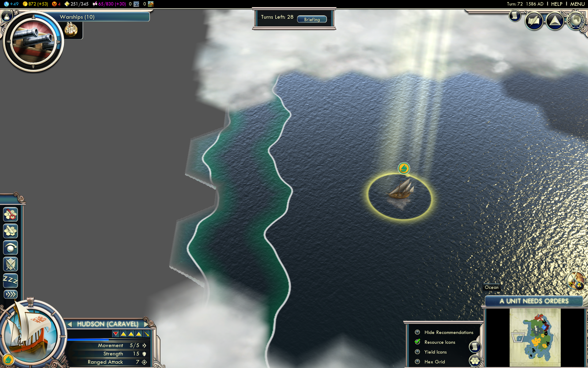 Caravel reaching China in Conquest of the New World.png - Civilization Game PNG