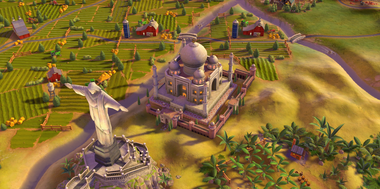 Taj Mahal in-game (Civ6).png - Civilization Game PNG