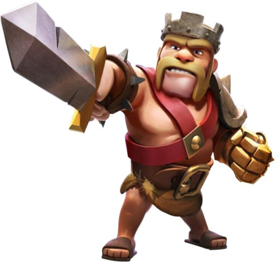 clash-of-clans-barbarian-king2.png (544×516) | clash of clans | Pinterest |  Barbarian - Clash Of Clans HD PNG