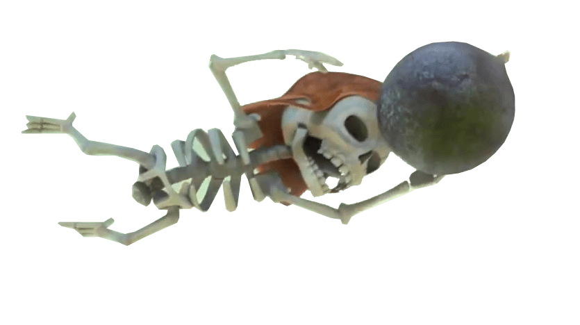 Clash Of Clans Skeleton With Bomb - Clash Of Clans HD PNG