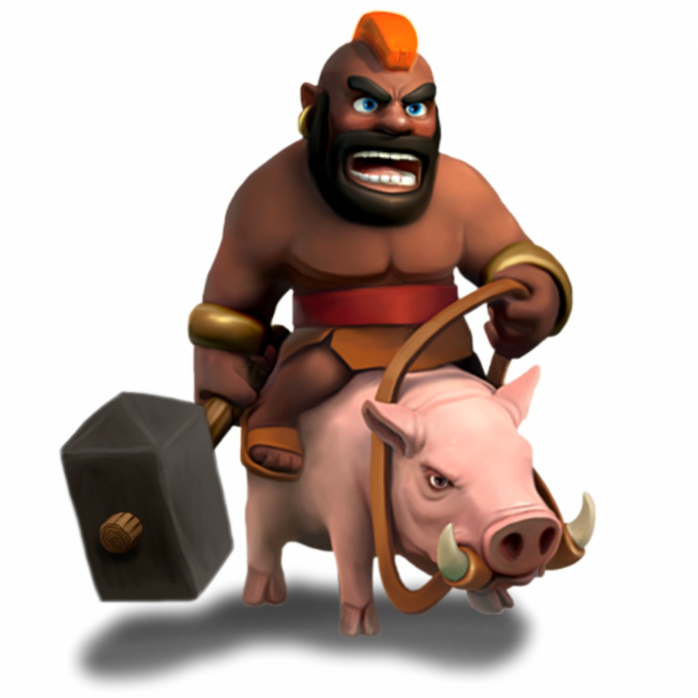 Troop-HogRider.png - Clash Of Clans HD PNG