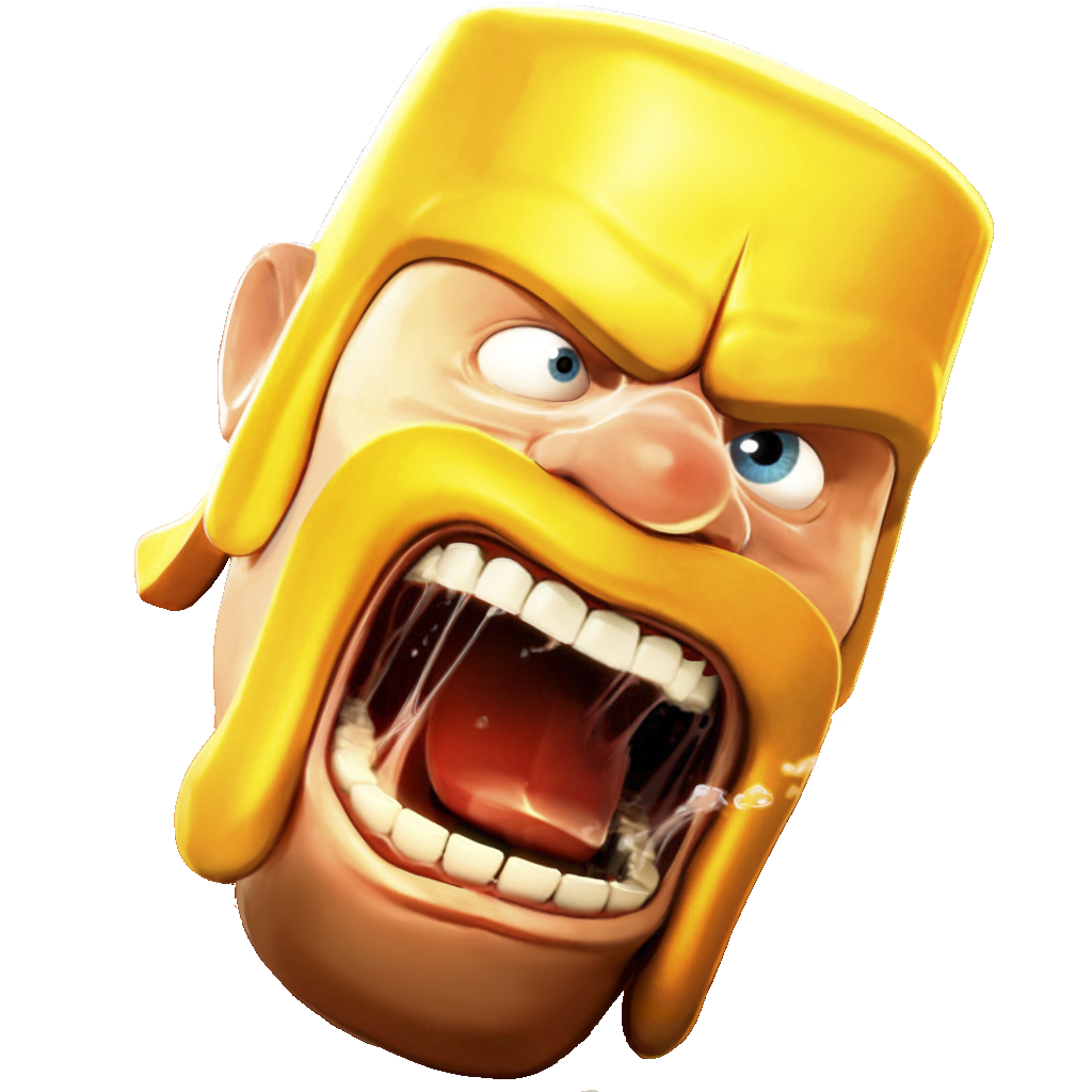 Barbarian face.png - Clash Of Clans PNG