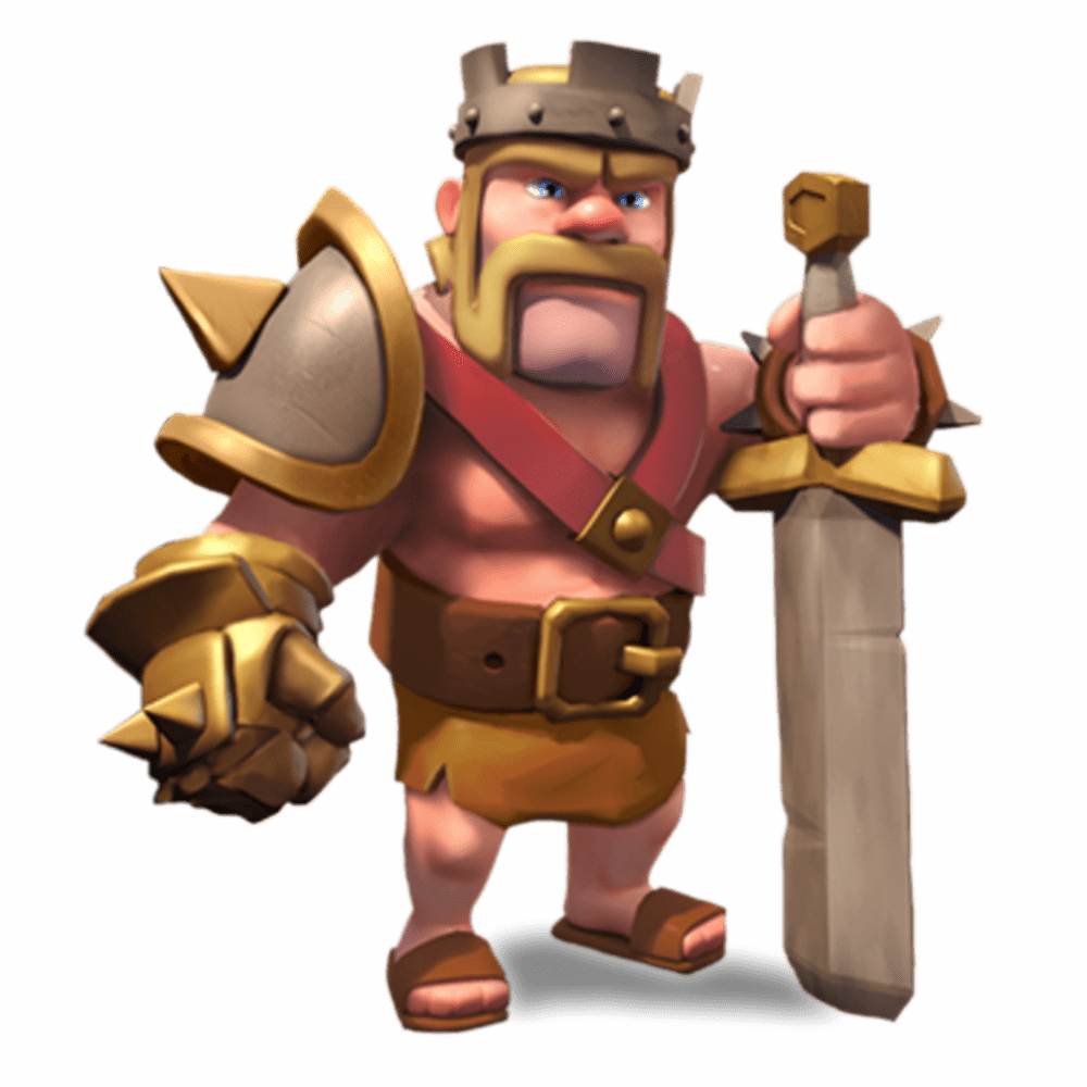 Clash Of Clans Barbarian King - Clash Of Clans PNG