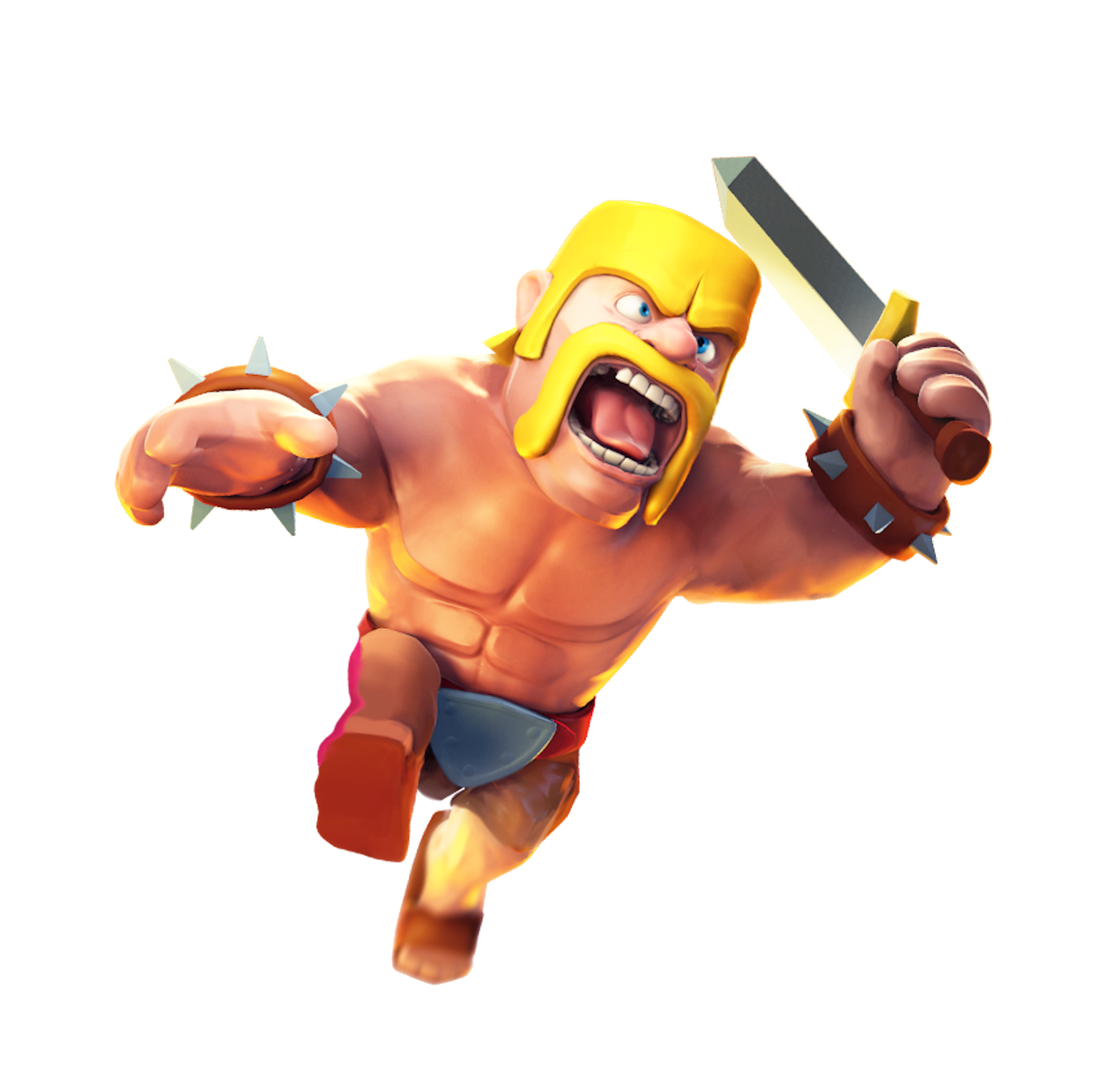 Clash of Clans Barbarian.png - Clash Of Clans PNG
