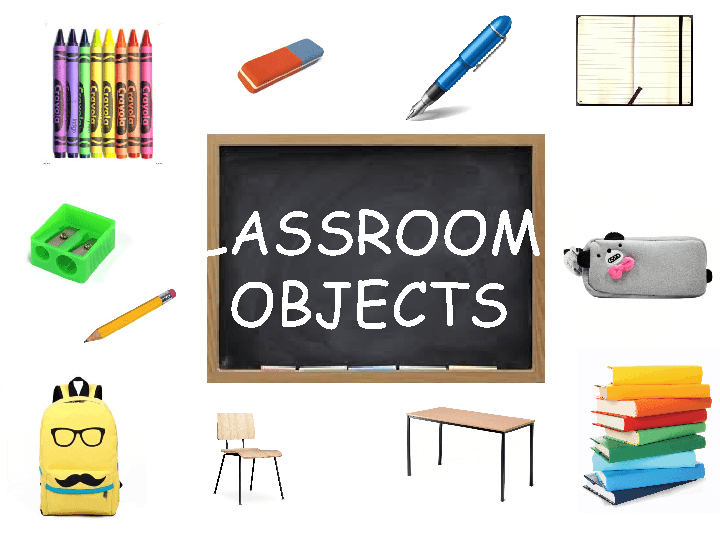 Classroom Objects - Flashcards - Classroom Objects PNG