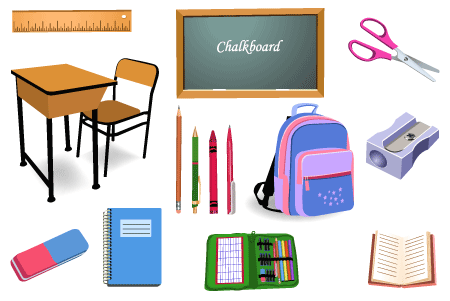 SCHOOL OBJECTS - Classroom Objects PNG