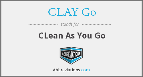 CLAY Go - CLean As You Go - Clean As You Go PNG