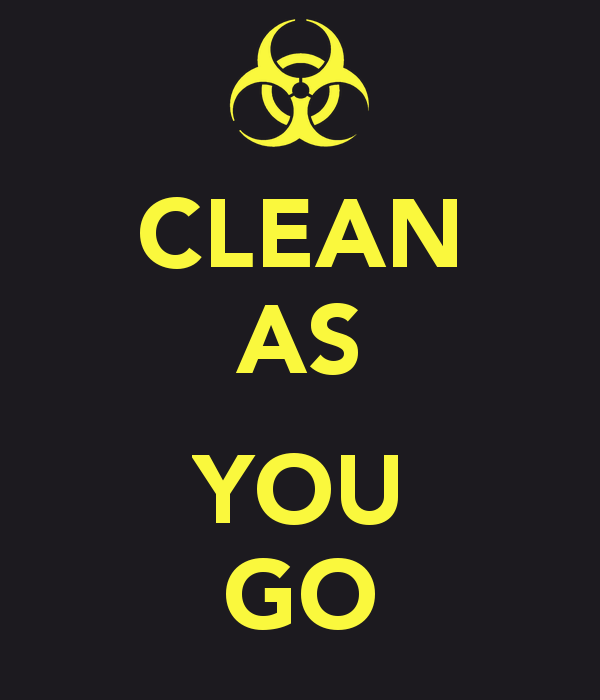CLEAN AS YOU GO - Clean As You Go PNG