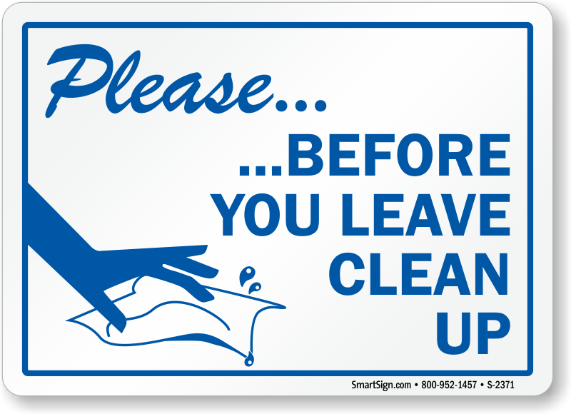 clean as you go clipart 1 - Clean As You Go PNG