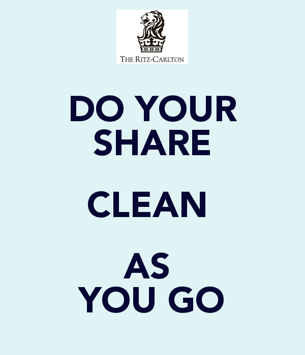 DO YOUR SHARE CLEAN AS YOU GO - Clean As You Go PNG