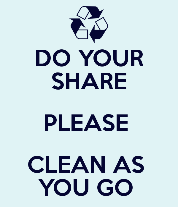 DO YOUR SHARE PLEASE CLEAN AS YOU GO - Clean As You Go PNG