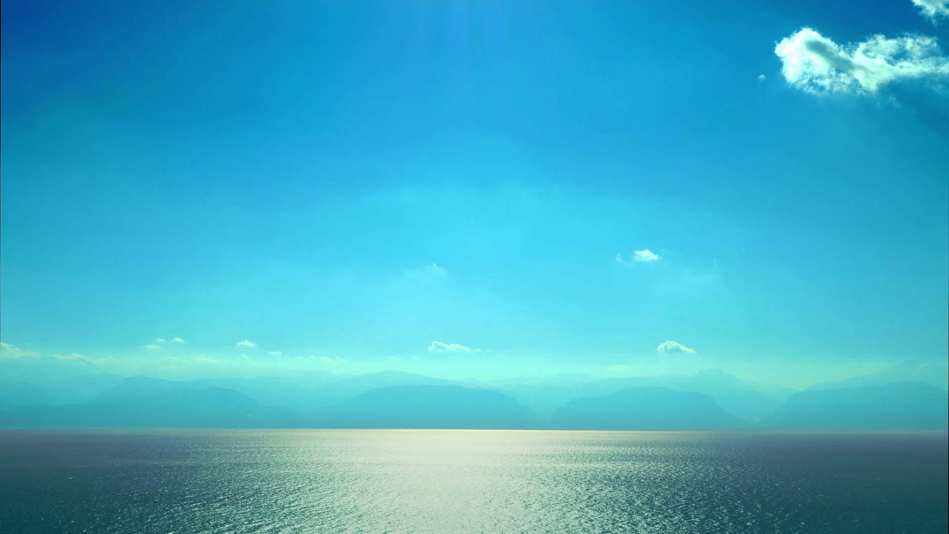 Beautiful Mediterranean simple scenery clear blue sky water ripple  reflection serene sea seascape Greece sunny day vista Stock Video Footage -  VideoBlocks - Clear Blue Sky PNG