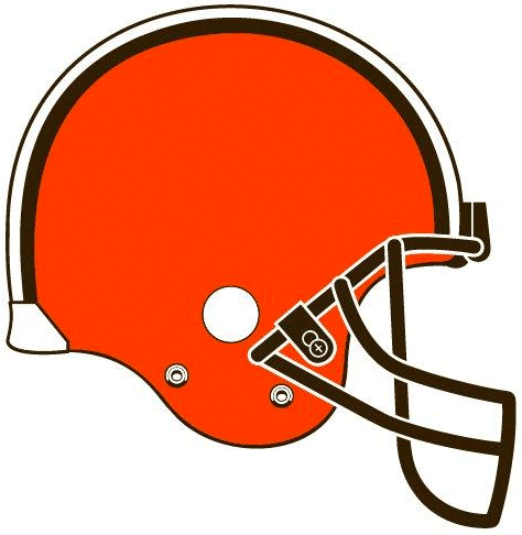 Cleveland browns pres helmet logo decals stickers cad - Cleveland Browns Logo PNG