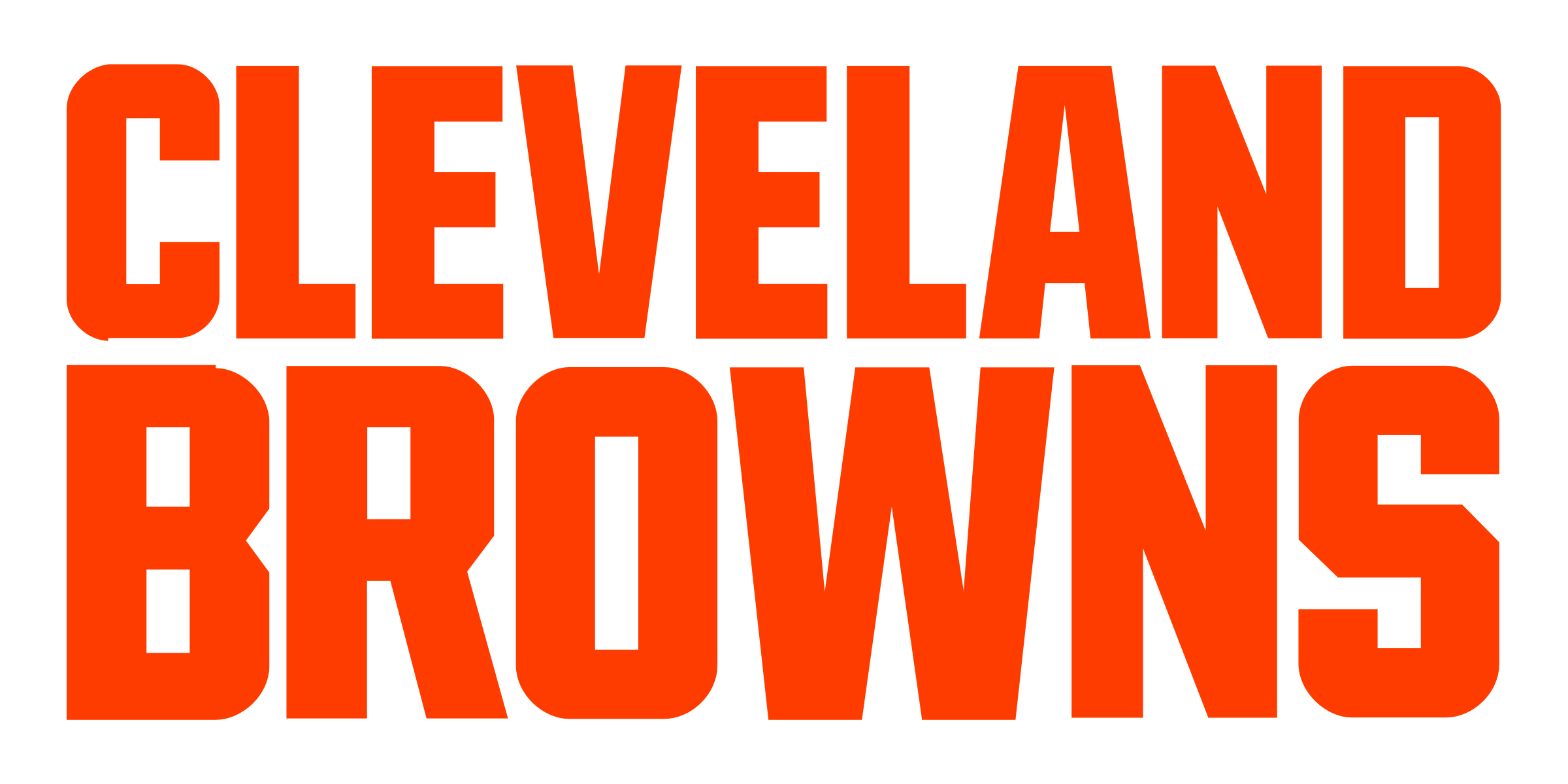 Cleveland Browns logo font - Cleveland Browns Vector PNG