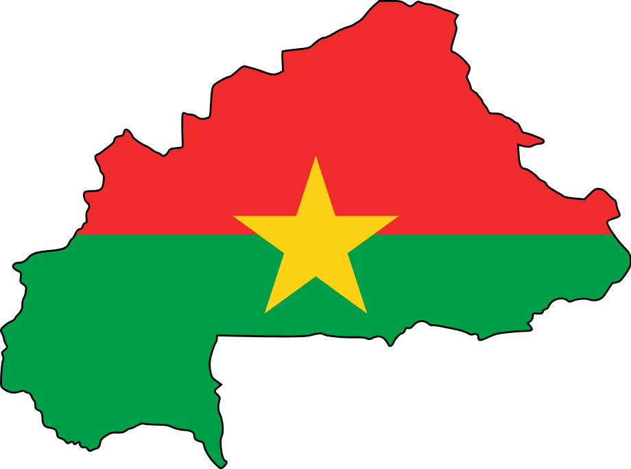 Click on the Flag Map of Burkina Faso PlusPng.com  - Burkina Faso PNG