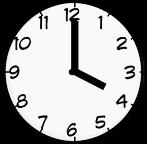 4 O Clock Clip Art - Clock Clipart PNG